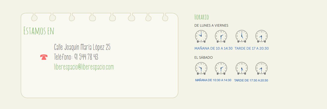 Localización y horario Liberespacio