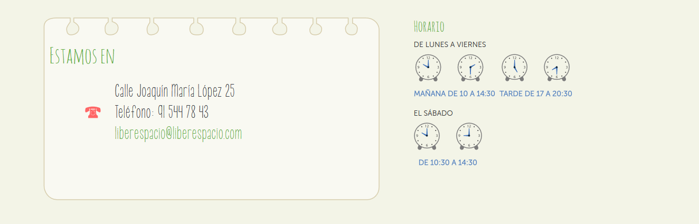Liberespacio: localización y horario