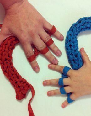 Taller para niños aprende a tejer