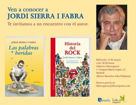 Encuentro con Jordi Sierra i Fabra