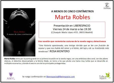25 VIE Marta Robles nos presenta A menos de cinco centímetros de