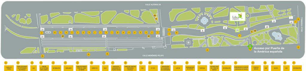 Mapa de situación de la caseta de Liberespacio en la Feria 2017