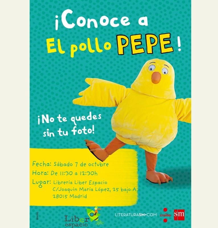 Ven a conocer al Pollo Pepe a Liberespacio
