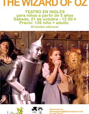 The wizard of Oz. teatro en inglés