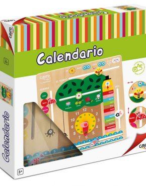 Calendario de madera infantil