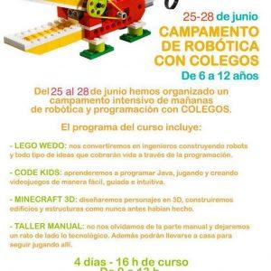 entrada al campamento de junio de robótica y programación