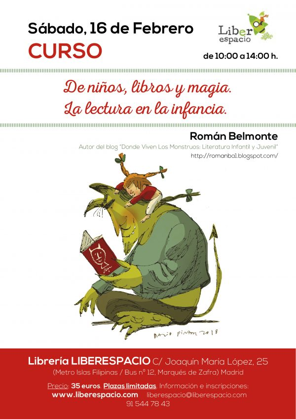 Curso taller: la lectura en la infancia. Con Román Belmonte.