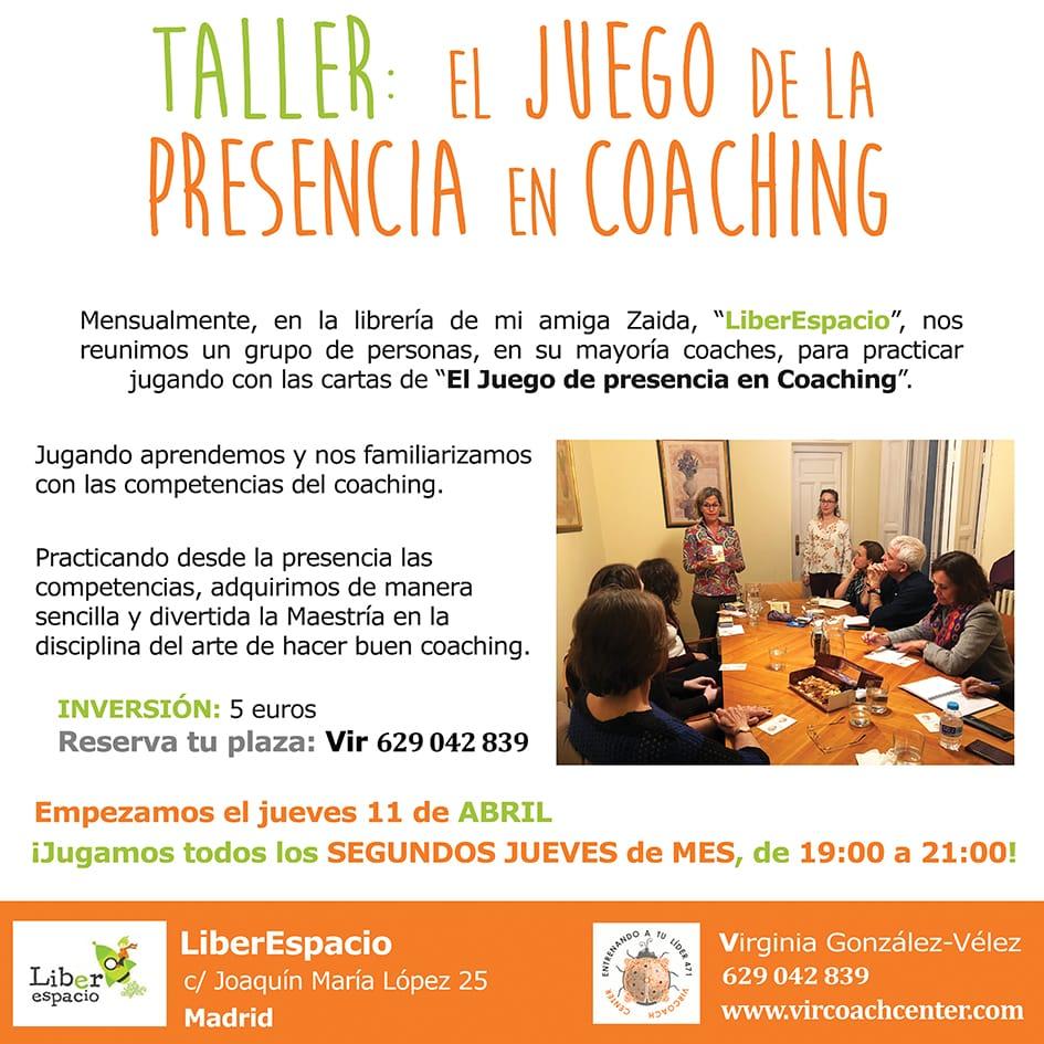taller de coaching: El juego de la presencia en el Coaching