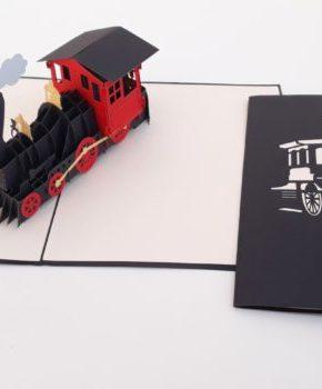 Tarjeta Pop Up Tren