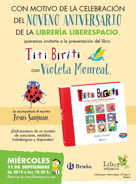 Celebración 9º Aniversario con Violeta Monreal y Jesús Sanjuán