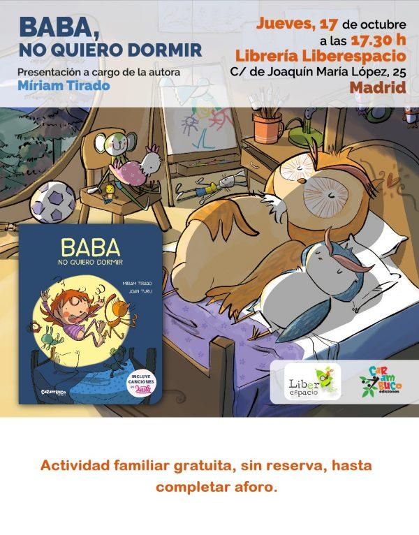 Cuentacuentos con Miriam Tirado: Baba, no quiero dormir