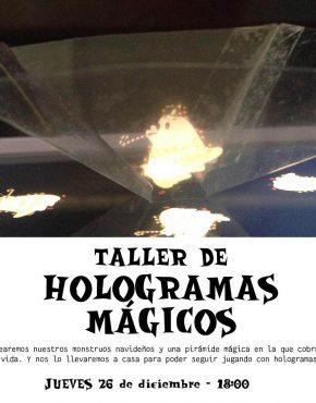 Entrada al taller de hologramas