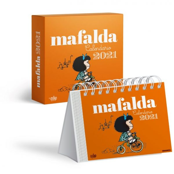 Calendario de mesa 2021 Mafalda naranja