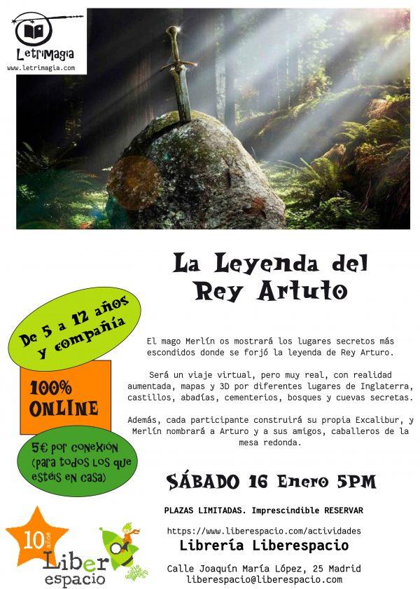 Acceso al taller virtual La Leyenda del Rey Arturo