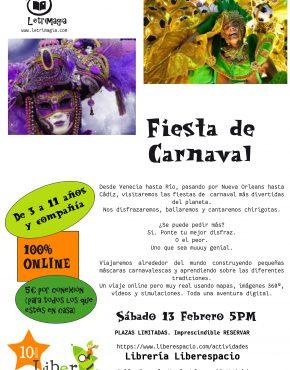 Taller virtual Fiesta de Carnaval