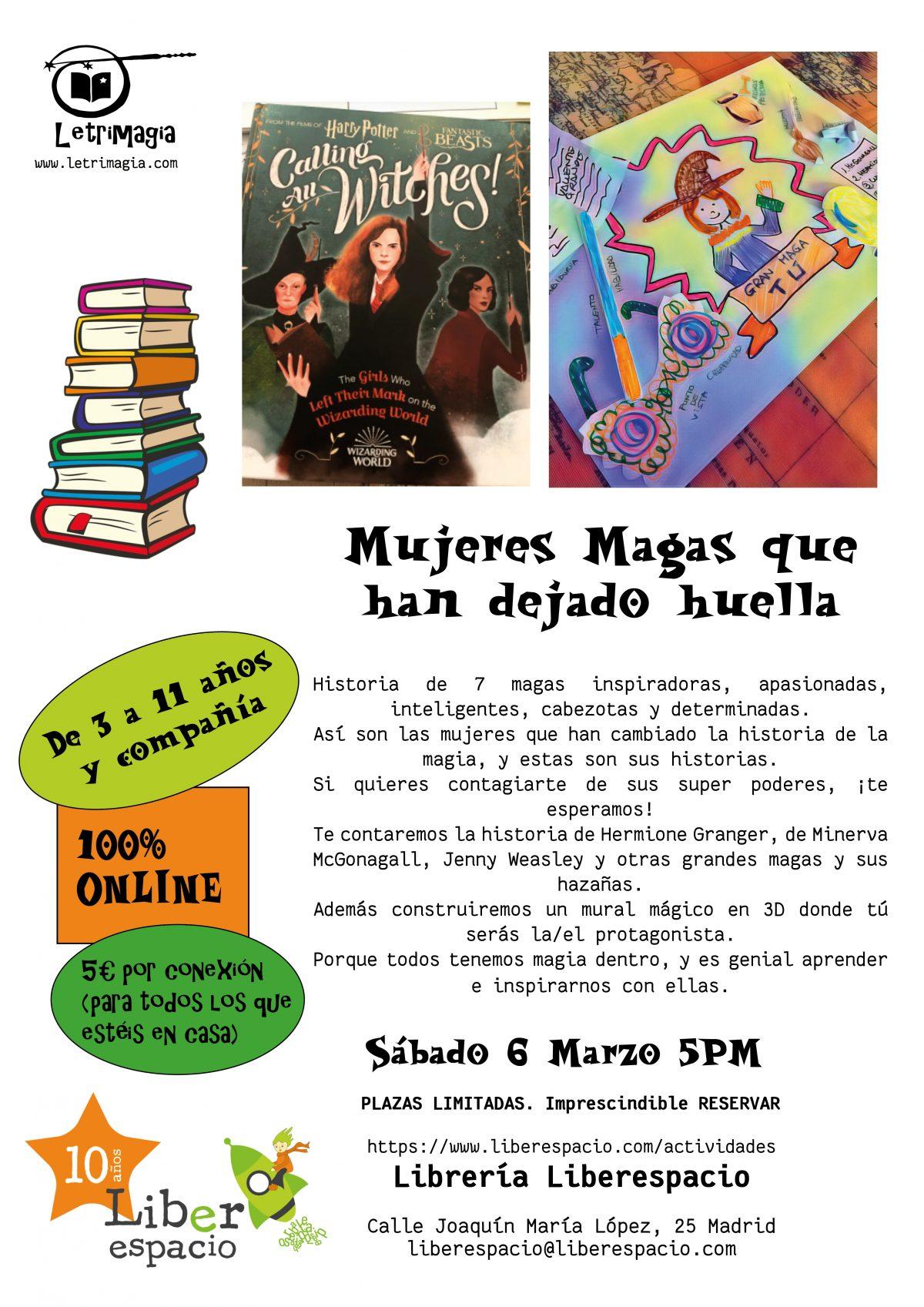 """Taller virtual """"Mujeres magas que han dejado huella"""""""