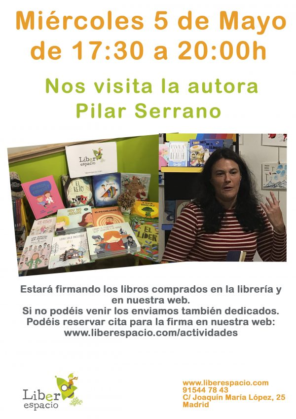 Firma de libros con Pilar Serrano